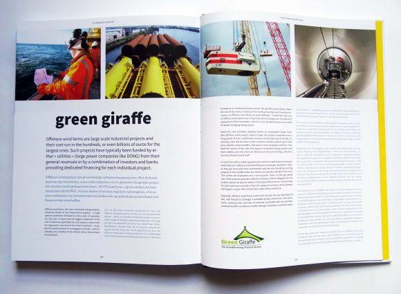 Spread (twee paginas) van bedrijf Green Giraffe